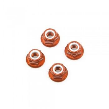 Lumenier M5 Aluminum Flanged Locknut (4 CW) (Choose Color)