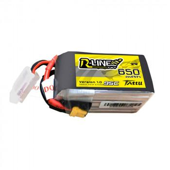 Tattu R-Line 650mAh 6s 95c Lipo Battery